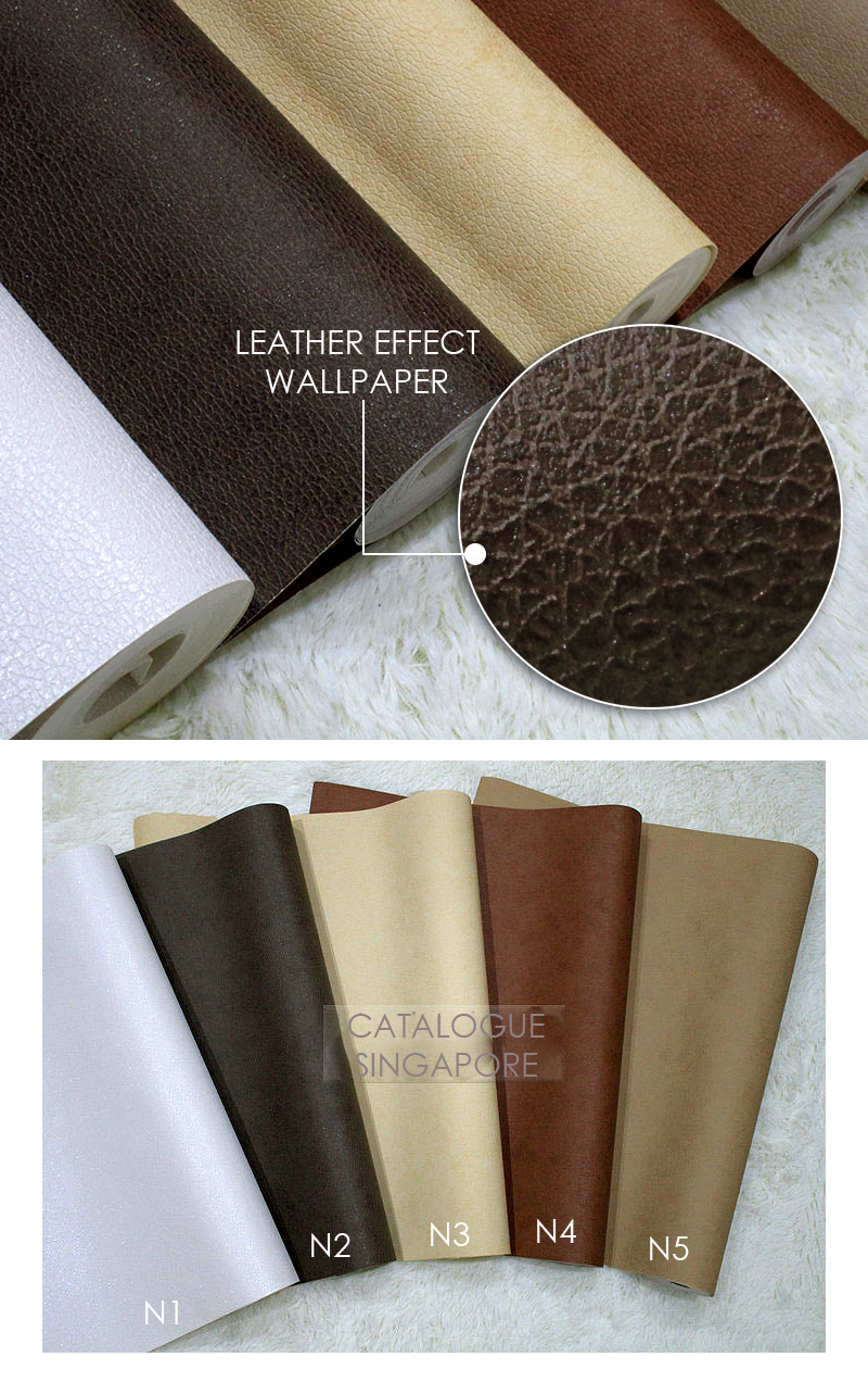 Leather Effect Wallpaper